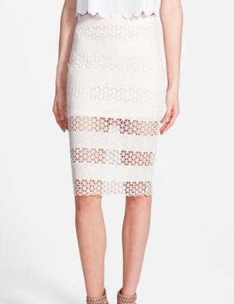 ASTR sheer pencil skirt