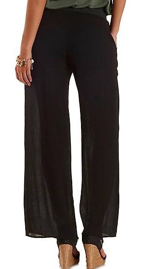 Charlotte Russe sheer pants