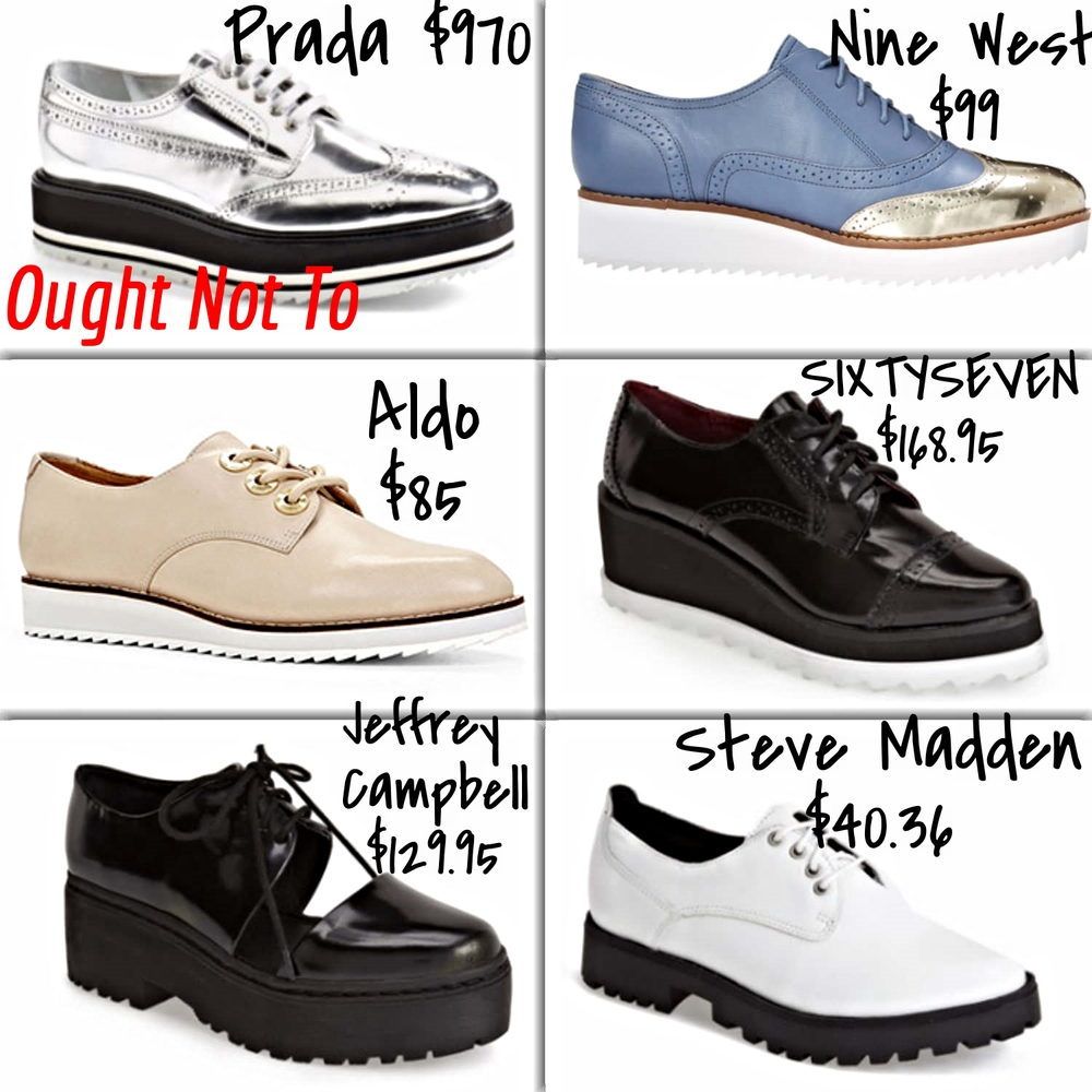 affordable platform oxfords