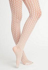 American Apparel cream fishnets