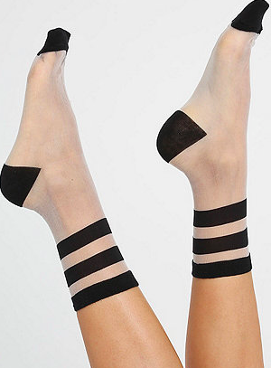 American Apparel sheer striped socks