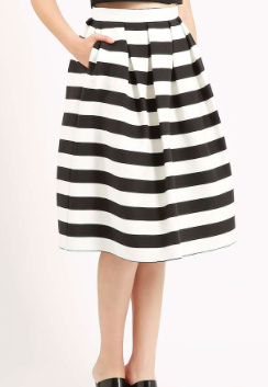 Topshop striped midi skirt