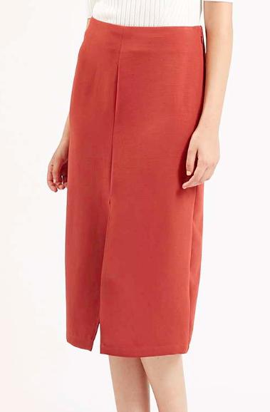 Topshop split front midi skirt