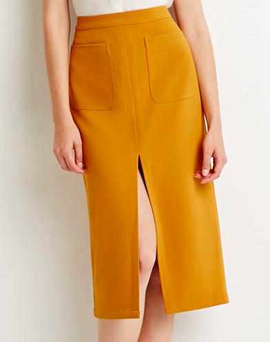 Forever 21 front slit midi skirt