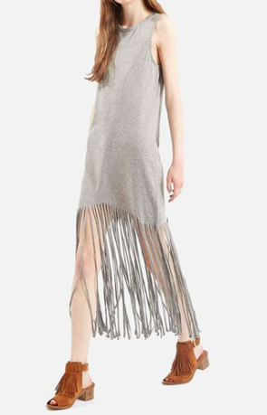 Topshop fringe dress
