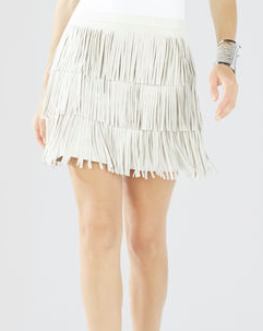 BCBG mini fringe skirt