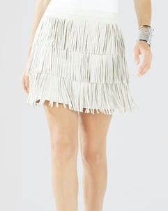 BCBG mini fringe skirt