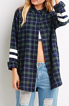 Forever 21 plaid flannel button down