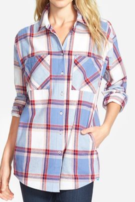 Sandra flannel plaid shirt
