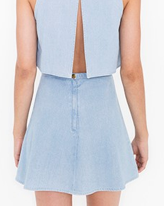 American Apparel mini denim skirt
