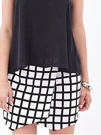 Forever 21 checkered mini skirt