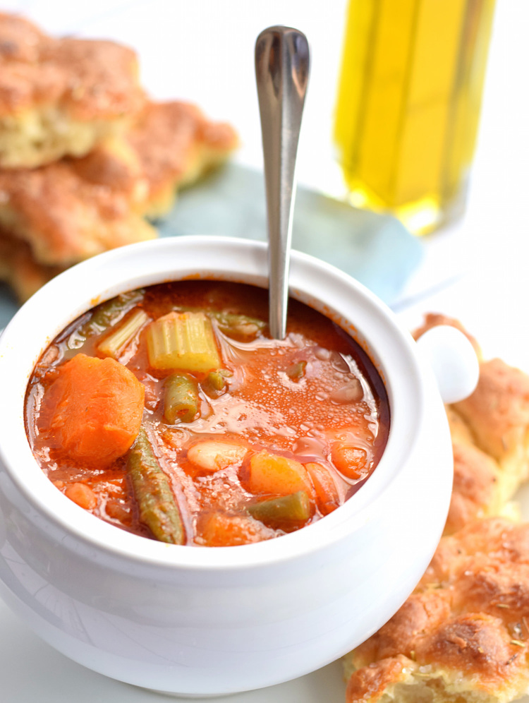 Vegetable Contains The best vegetable soup ever truffles and trends the best vegetable soup ever this easy hearty tomato based soup contains workwithnaturefo