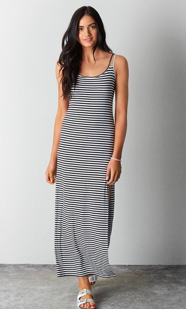AE striped maxi dress