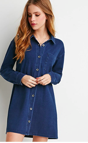 Forever 21 denim shirtdress