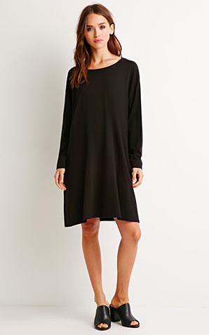 Forever 21 black swing dress