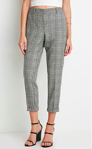 Forever 21 houndstooth trousers