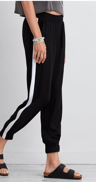 AE striped joggers