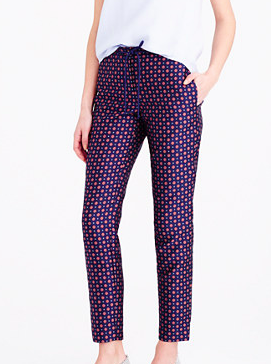 J.crew patterned pants