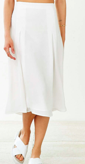 Urban Outfitters white midi skirt