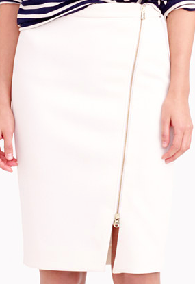 Jcrew zip pencil skirt