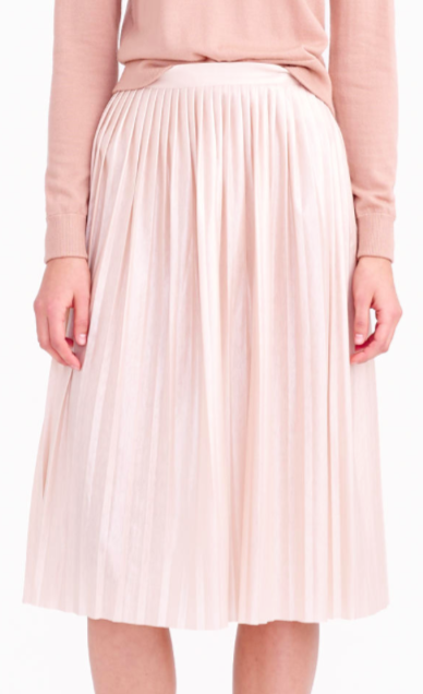 Jcrew midi pleated skirt