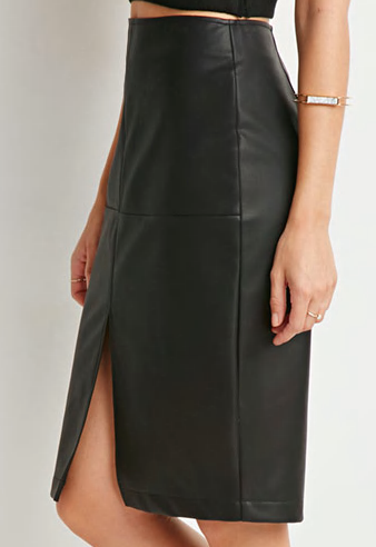 Forever 21 faux leather pencil skirt