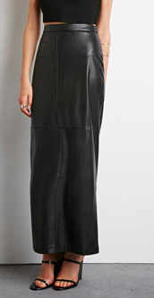 Forever 21 maxi faux leather skirt