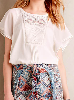 Anthropologie White Tunic