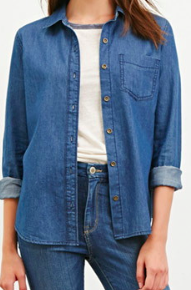 Forever 21 denim button down