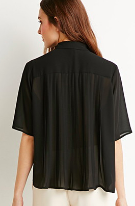Forever 21 pleated blouse
