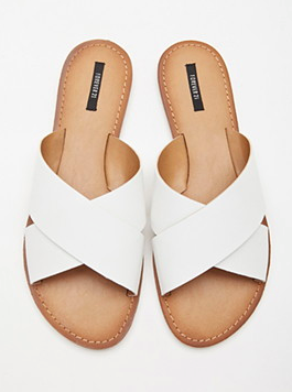 Forever 21 white sliders