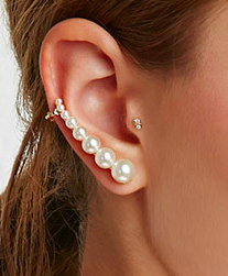 Forever 21 pearl cuff earring