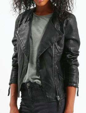 Topshop vegan leather jacket