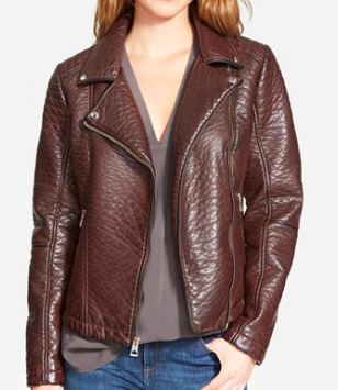 Guess brown faux leather jacket