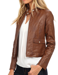 BB Dakota brown vegan leather jacket
