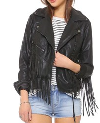 Blank Denim vegan leather jacket