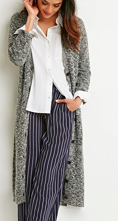 Forever 21 long chunky cardigan