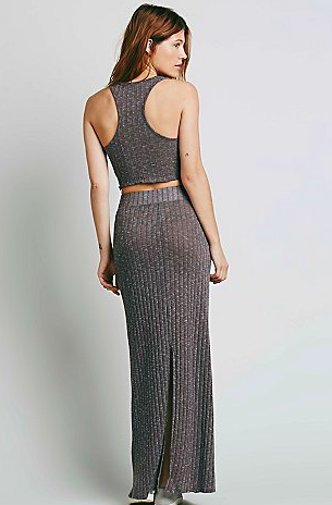 Free People grey two piece set