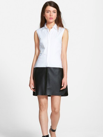 Bailey 44 shirtdress with leather