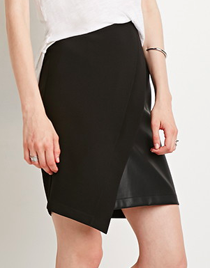 Forever 21 leather wrap skirt