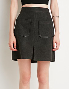 Forever 21 leather trim skirt