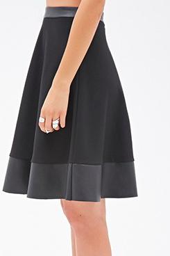 Forever 21 leather trim skirt