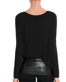 Style Bop leather trim top
