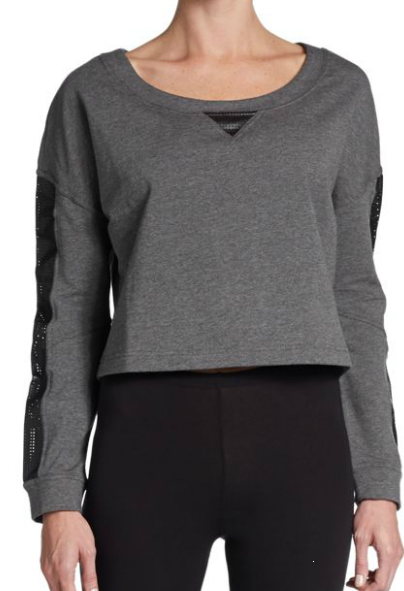 Betsey Johnson leather accent sweater
