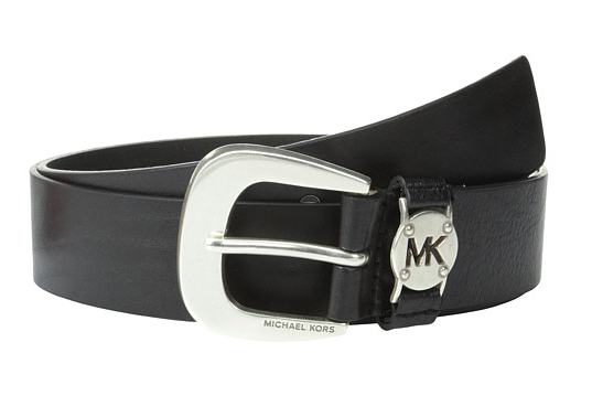 Michael Kors black leather belt