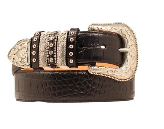 M&F Western Multi Keep Croco Belt