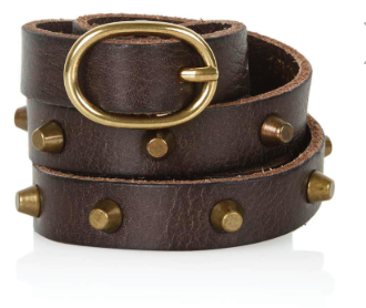 Topshop studded leather belt