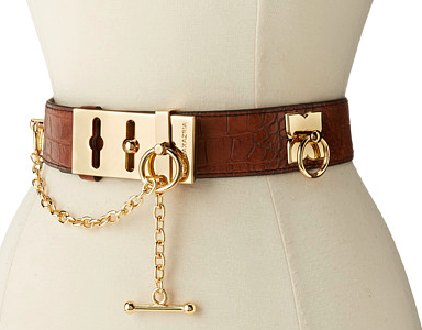 BCBG gold accents belt