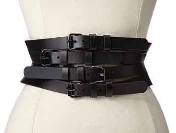 BCBG Wide Multi Straps Buckle Waist Belt
