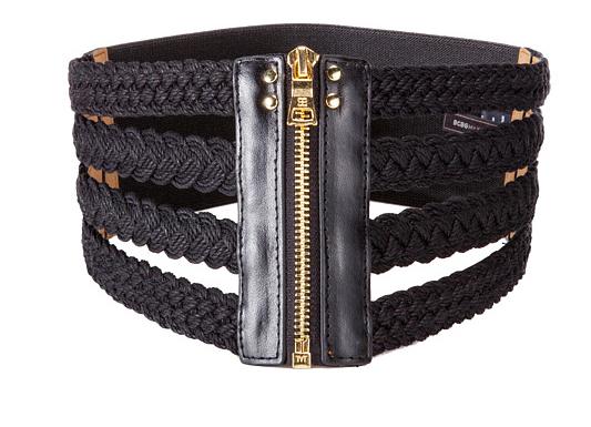 BCBG wide woven belt
